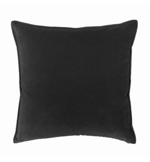 "Franklin Velvet - Black -  Pillow - 22"" x 22"""