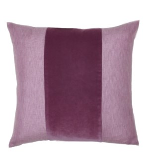 "Franklin Velvet - Burgundy -  BAND Pillow - 22"" x 22"""