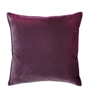 "Franklin Velvet - Burgundy -  Pillow - 22"" x 22"""
