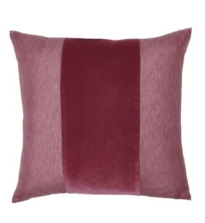 "Franklin Velvet - Cordovan -  BAND Pillow - 22"" x 22"""