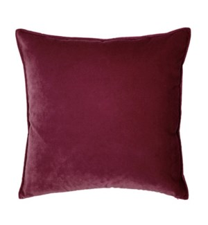 "Franklin Velvet - Cordovan -  Pillow - 22"" x 22"""