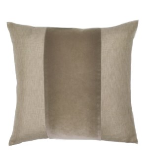 "Franklin Velvet - Custard -  BAND Pillow - 22"" x 22"""