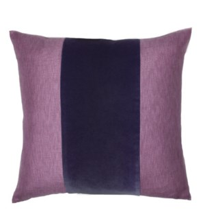 "Franklin Velvet - Deep Purple -  BAND Pillow - 22"" x 22"""