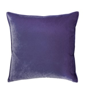 "Franklin Velvet - Deep Purple -  Pillow - 22"" x 22"""