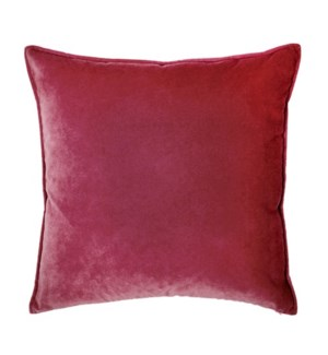 "Franklin Velvet - Escarlata -  Pillow - 22"" x 22"""
