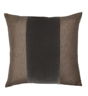 "Franklin Velvet - French Roast -  BAND Pillow - 22"" x 22"""