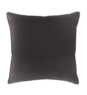 "Franklin Velvet - French Roast -  Pillow - 22"" x 22"""