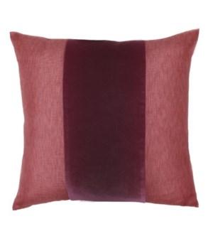 """Franklin Velvet - Galante -  BAND Pillow - 22"""" x 22"""""""