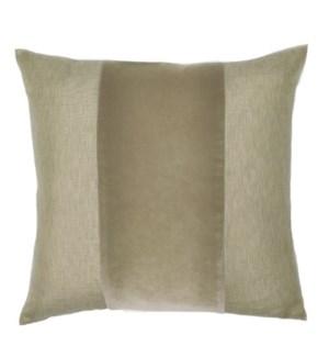 """Franklin Velvet - Gobi -  BAND Pillow - 22"""" x 22"""""""