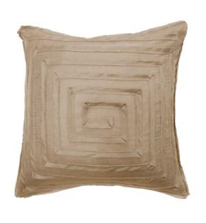 "Monte Carlo - Bronze - MAZE Pillow - 22"" x 22"""