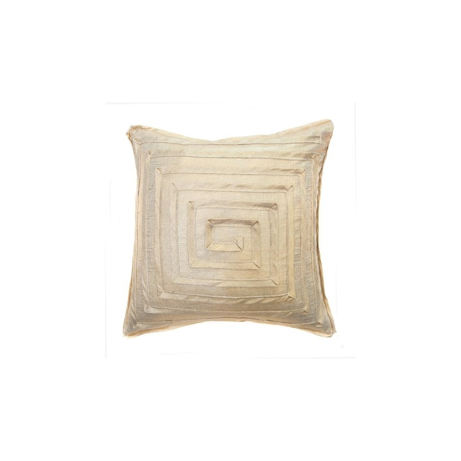 "Monte Carlo -Maze Pillow - Gold Trophy - 22"" x 22"""