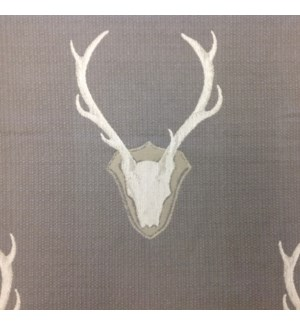 Oh Deer * - Pewter - Fabric By the Yard