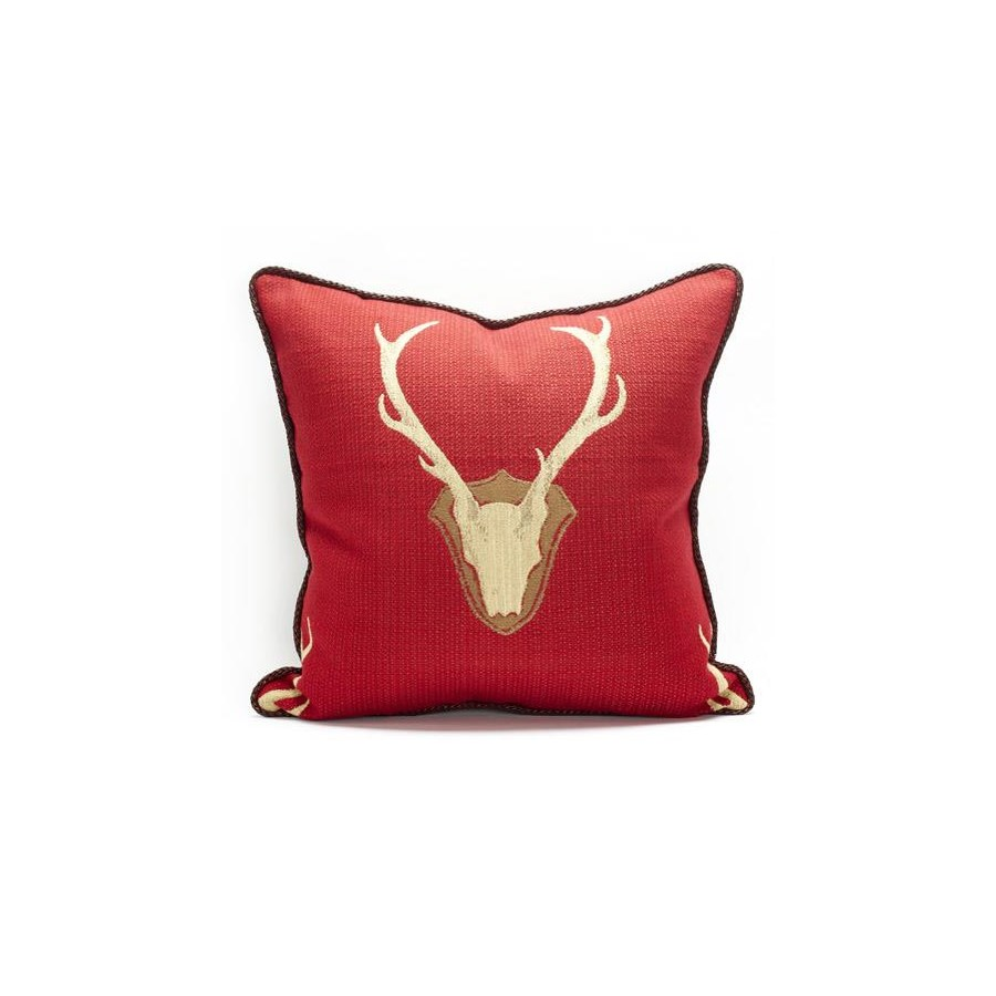"Oh Deer Red Pillow - 22"" x 22"""