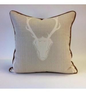 "Oh Deer Tusk Pillow - 22"" x 22"""