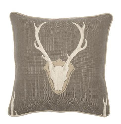 "Oh Deer Pewter Pillow - 22"" x 22"""
