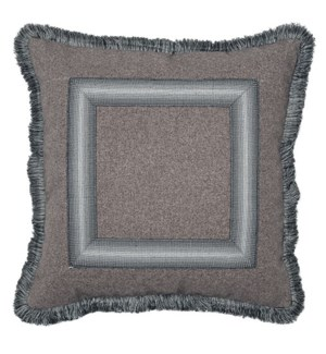 Ombre Frame Pillow with Fringe - Rogers Tweed
