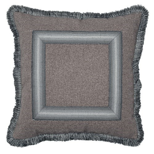 Ombre Frame Pillow with Fringe - Rogers