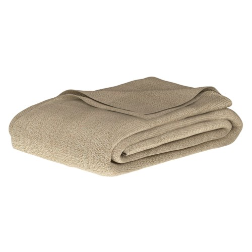 Pebble Knit Flax Blanket - Queen