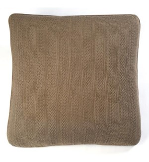 "Pebble Knit - Stone - Pillows - 20"" x 20"""