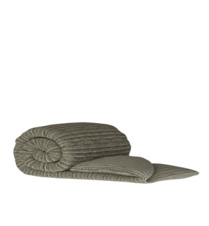 Pleated Knit - Grey Wash - Throw