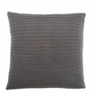 "Pleated Knit - Flannel - Pillow - 22"" x 22"""