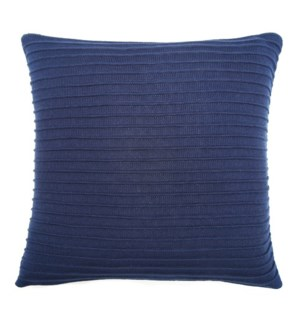 "Pleated Knit - Lapis - Pillow - 22"" x 22"""