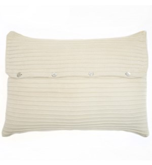 Pleated Knit - Ivory - Sham - Queen