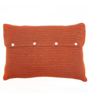 Pleated Knit - Terra Cotta - Sham - Queen