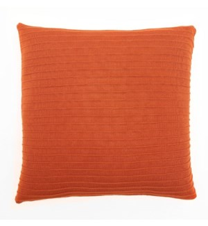 "Pleated Knit - Terra Cotta - Pillow - 22"" x 22"""