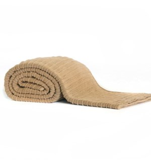 Pleated Knit - Camel - Throw