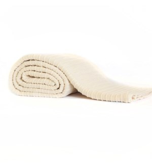 Pleated Knit - Ivory - Throw