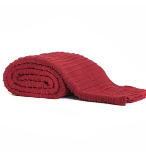 Pleated Knit - Red - Blankets