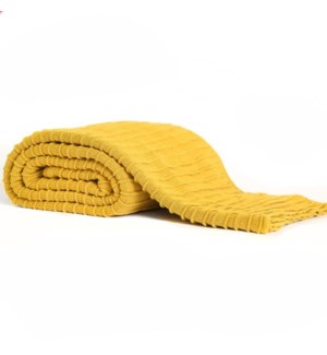 Pleated Knit - Saffron - Throw