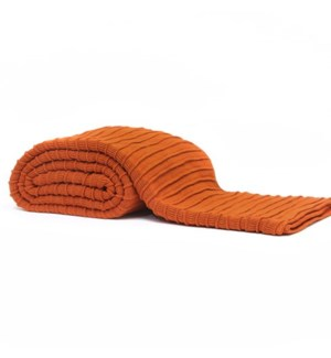 Pleated Knit - Terra Cotta Throw