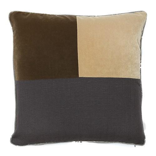 Two Tone Square Pillow - Mushroom / Gobi