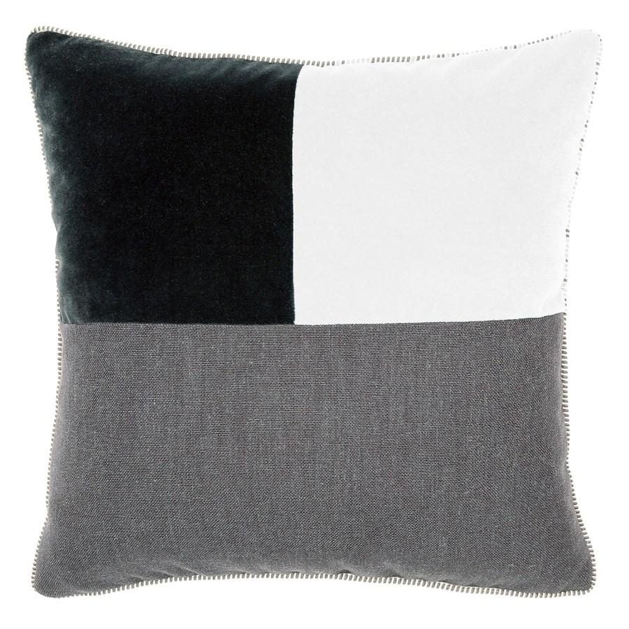 Two Tone Square Pillow - Thundercloud / Snow