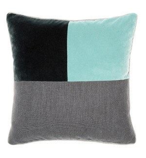 Two Tone Square Pillow - Whirlpool / Graphite