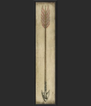 EB Red and White Feathered Arrow