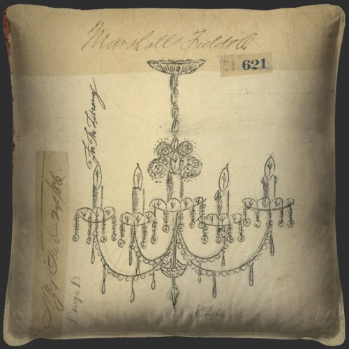 Chandelier For the Library Pillow