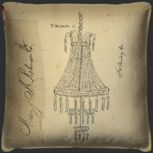 Chandelier For the Parlor Pillow