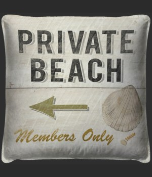 Private Beach Pillow