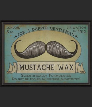 BC Mustache Wax Sign