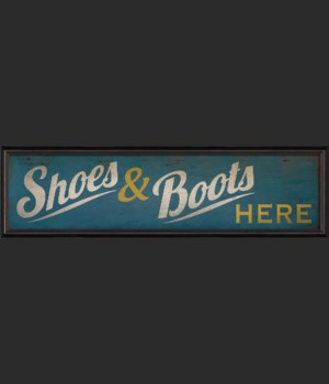 BC Shoes and Boots Here Sign