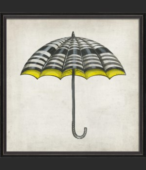 BC White Black and Yellow Umbrella