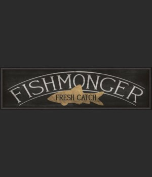 BC XL Fishmonger Sign