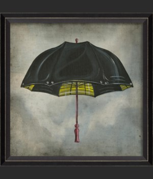 BC Black and Yellow Umbrella in clouds