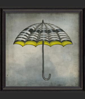 BC White Black and Yellow Umbrella in clouds