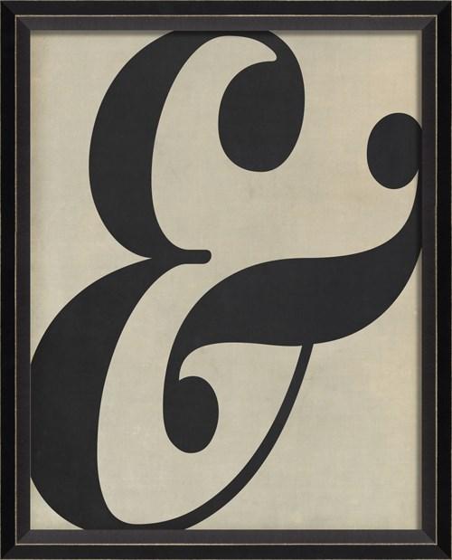 BC Letter Ampersand black on white sm