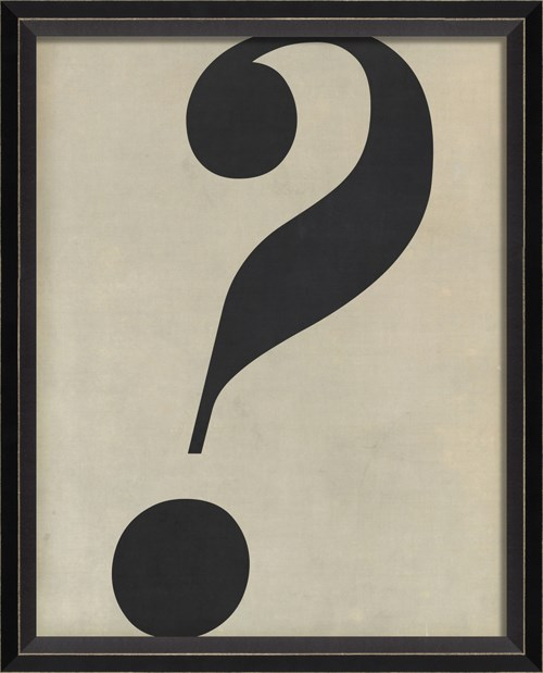 BC Letter Question Mark black on white sm