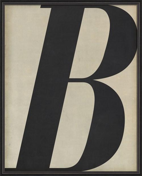 BC Letter B black on white